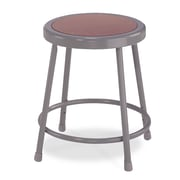 "National Public Seating 18"" Round Task Stool, Gray (62185)"