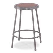 "National Public Seating 39"" Round Task Stool, Gray, 3/Pack (62303)"