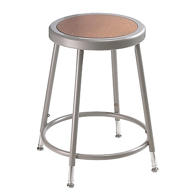 NPS® Heavy Duty Steel Stool With Adjustable Height, Grey