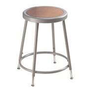 "NPS® 19"" - 26 1/2"" Hardboard Round Adjustable Stool, Gray, 5/Pack"