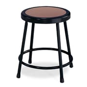 "NPS® 18"" Hardboard Round Stool, Black, 5/Pack"