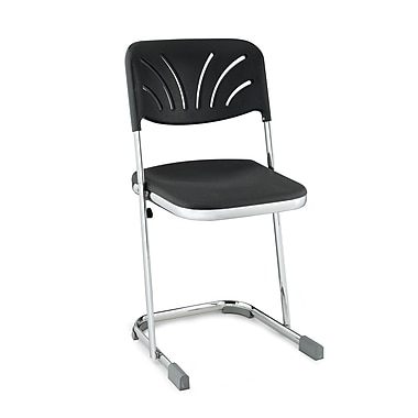 NPS® Blow Molded Square Elephant Z-Stool with Adjustable Backrest, Black