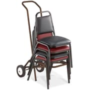 NPS DY-9000 Steel Chair Dolly, Brown