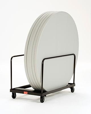NPS Steel Vertical Storage Folding Table Truck F\/4'\/5' Tables, Dark Brown