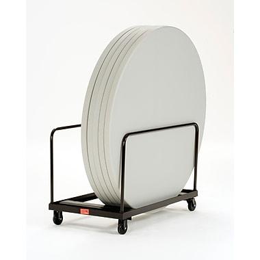 NPS® Steel Vertical Storage Folding Table Truck F/4'/5' Tables, Dark Brown