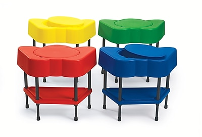 Angeles Activity/Sensory 24'' Irregular Table Sets, Royal Blue/Candy Applered/Shamrock Green/Canary Yellow (AFB5104SET)