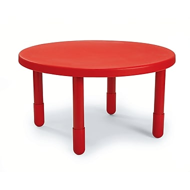 Angeles Preschool 36'' Round Table, Candy Apple Red (AB710PR24)