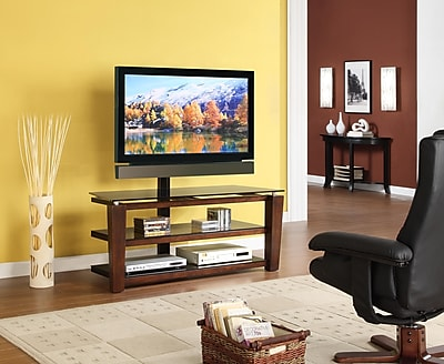 Whalen 52 Flat Panel 3 In 1 Swivel Tv Stand Brown Cherry Staples