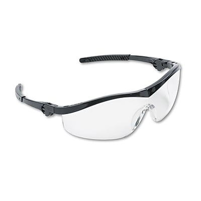 MCR Safety Storm® Non Slip Temple Sleeve Safety Glasses, Clear Lens