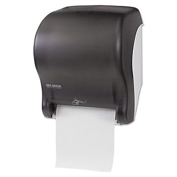 San Jamar Smart Essence Electronic Roll Towel Dispenser Black Pearl Staples