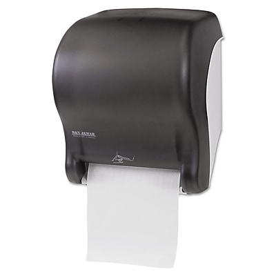 San Jamar® Smart Essence™ Electronic Roll Towel Dispenser, Black Pearl