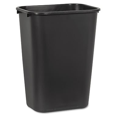Unisan 10.25 gal. Plastic Trash Can without Lid, Black