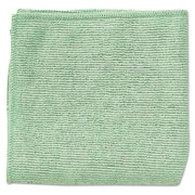 "Rubbermaid Commercial® 16""x16"" Microfiber Cleaning Cloths, Green, 24/Pack"