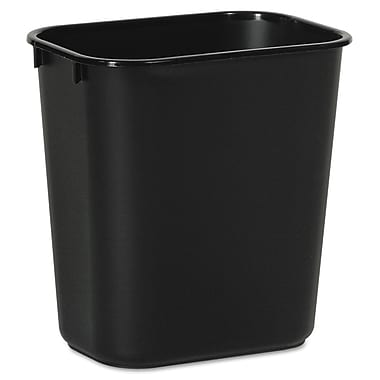 Unisan 3.5 gal. Plastic Trash Can without Lid, Black