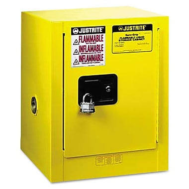 Justrite 4 gal Sure-Grip Countertop Safety Cabinet, Yellow
