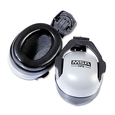 MSA Soprano™ Ear Muff For Full Brim Hard Hats, NRR 25dB, Gray/Black