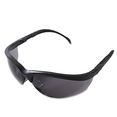 MCR Safety Klondike® Adjustable Temple Safety Glasses, Gray Lens