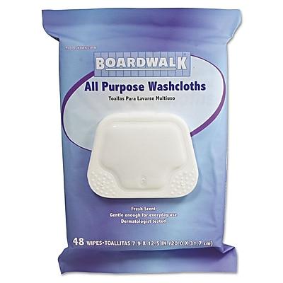Boardwalk® Premoistened Personal Washcloths, Fresh