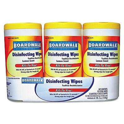 Boardwalk® Disinfecting Wipes, Lemon Scent, 75 Counts