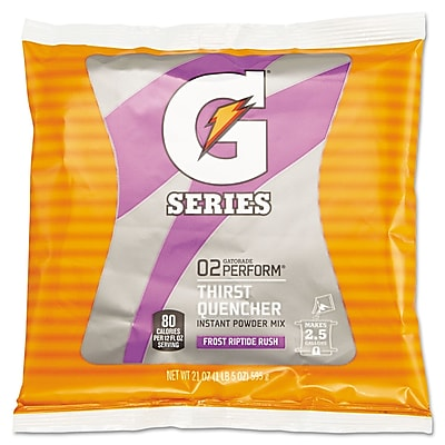 Gatorade® Powder Sports Drink Mix, Riptide Rush, 21 oz., 32/Pack