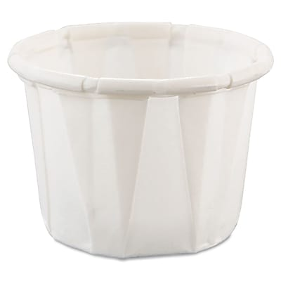 Solo Souffle Treated Paper Portion Cup, White, 0.5 oz. 1000/Pack 150277