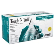 Ansellpro Touch N Tuff® Powder-Free Nitrile Disposable Gloves, Teal, Medium, 100/Box