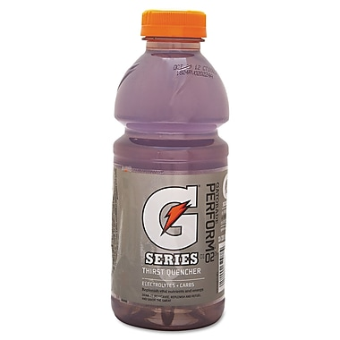Gatorade® G Series Ready To Drink Thirst Quencher, Riptide Rush, 20 oz. Wide Mouth Bottle, 24/Pack