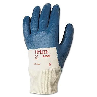 Ansell® Hylite® 47-400 Interlock Knit Lining Nitrile Coated Multi-Purpose Gloves, White/Blue, XL
