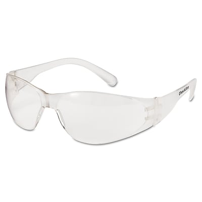 MCR Safety® Checklite; Crew Safety Glasses, Uncoated, Clear, 12/Box