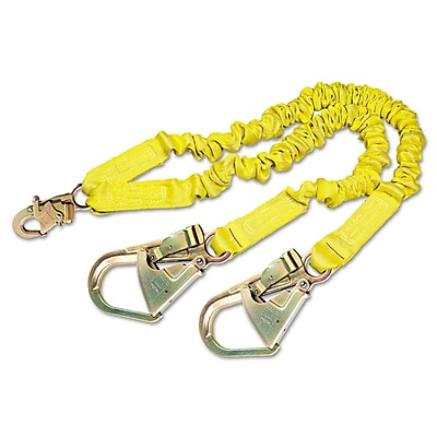 DBI/Sala® ShockWave2 Shock-Absorbing Lanyard With Steel Hooks, Yellow