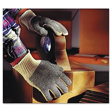 Ansell® MultiKnit™ Poly/Cotton Lining Dotted PVC Coated Lightweight Glove, Natural, Large