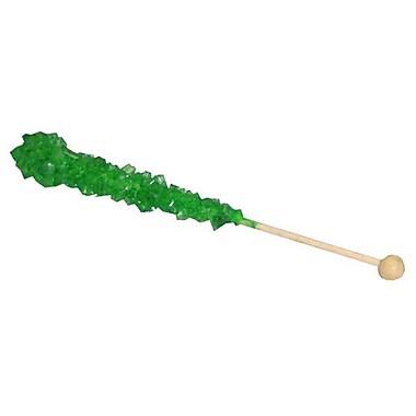 Green Rock Candy Sticks, 36-piece tub