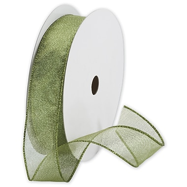 Holiday Ribbon, Shimmer Green, 1 1/2