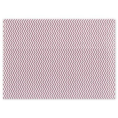Papier de soie à chevrons rouges, 20 x 30 po, rouge, 200/paquet