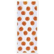 """Jack-O-Lantern Cello Bag, Orange, 5"""" x 3"""" x 11 1/2"""", 100/Pk"""