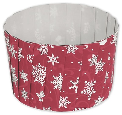 """""Paper 2.6""""""""Dia. x 2""""""""D Solid Baking Cup, Red, 80/Pack"""""" 318003"