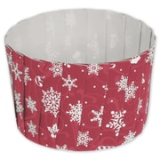 """Paper 2.6""""Dia. x 2""""D Solid Baking Cup, Red, 80/Pack"""