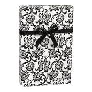"Damask Gift Wrap, Black/White, 30"" x 100'"