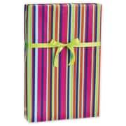 Papier-cadeau flamenco, 30 po x 417 pi, bleu/vert/rose/orange