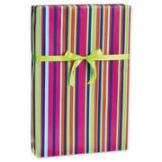 "Flamenco Gift Wrap, 30"" x 417', Blue/Green/Pink/Orange"