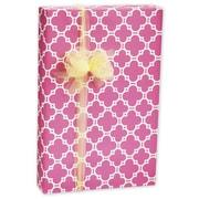 Papier-cadeau Casablanca, 30 po x 417 pi, rose/blanc