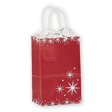 Festive Filigree Shoppers, White/Red, 5 1/4