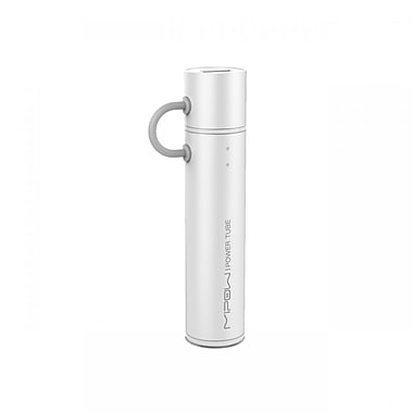 MiPow SP2600MSR Power Tube Micro USB Portable Charger, 2600mAh, Silver