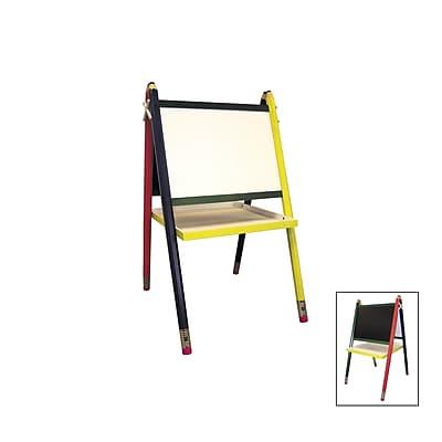 Ore International® Wood Kid's Drawing Board Easel, Black/Yellow/Red