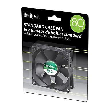 RetailPlus® MCMC-F8025B 80mm Case Fan, Black