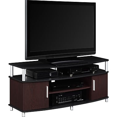 Altra Carson 50 Quot Tv Stand Cherry Black Staples 174