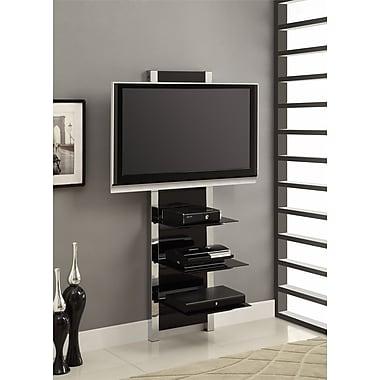 Altra Furniture Chrome AltraMount TV Stand, BLACK