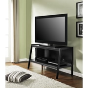 "Ameriwood™ 60"" Bookcase/TV Stand, Black Forest"