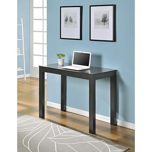 Altra Furniture Parsons Desk With Drawer Espresso Finish Rollover Image To Zoom In S Staples 3p Com S7 Is