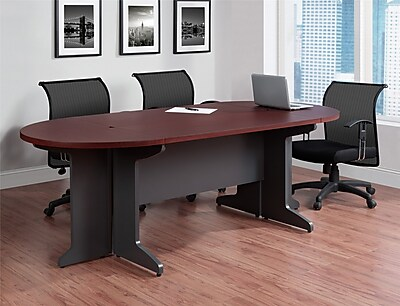 round office desk round table httpswwwstaples3pcoms7is altra pursuit 8546 oval conference table cherry 9349096 staples